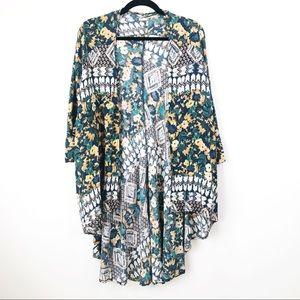 O'Neill Mallory Floral Festival Woven Kimono